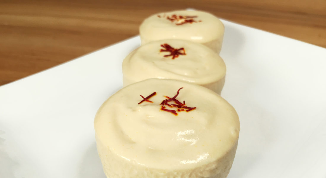 Gluten Free, Vegan, No-Bake Lemon Saffron Cheesecake