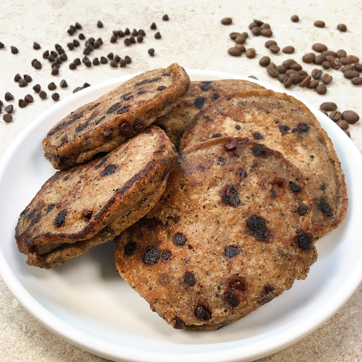 Coffee Chocolate Chip Pancakes by The Allergy Chef